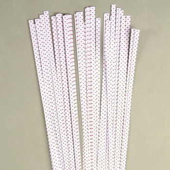 Str. 5 x 450 mm white/red dots  80 St. /Pcs.