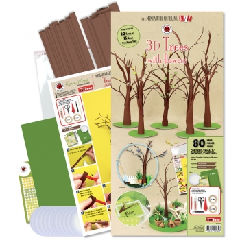 3D-trees with flowers kit