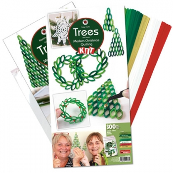 Trees modern christmas quilling kit