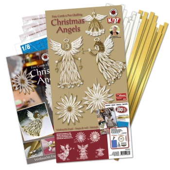 Christmas Angels comb & pen kit gold/white 330 pcs