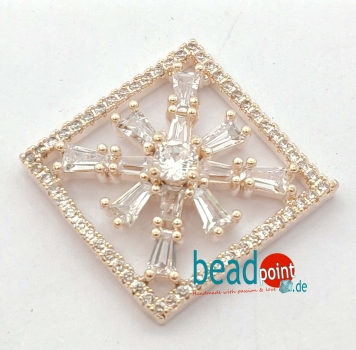 Fancy Quadrat rose gold 19mm