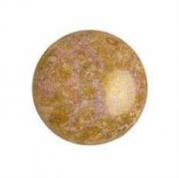Cabochon 18mm PAR PUCA® OPAQ. MIX ROSE/GOLD CERAMIC LOOK 1