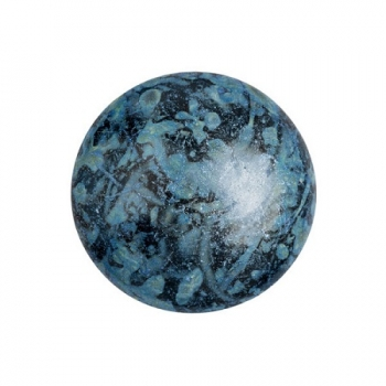Cabochon 18mm PAR PUCA® METALLIC MAT BLUE SPOTTED 1 Stk.