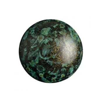 Cabochon 18mm PAR PUCA® METALLIC MAT GREEN SPOTTED 1 Stk.