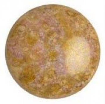 Cabochon 25mm PAR PUCA® OPAQ. MIX ROSE/GOLD CERAMIC LOOK 1