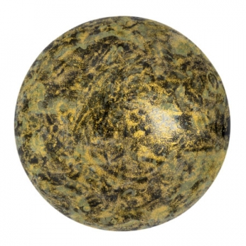 Cabochon 25mm PAR PUCA® METALLIC MAT OLD GOLD SPOTTED 1St