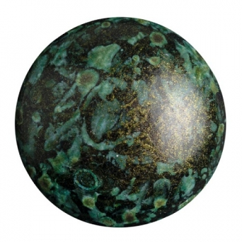 Cabochon 25mm PAR PUCA® METALLIC MAT GREEN SPOTTED 1Stk.