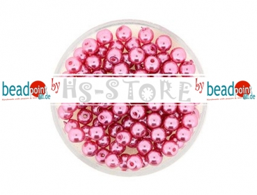 Wachs-Glasperle 4 mm rosa 100 St.