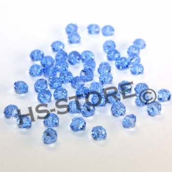 Glasschliffperle 4mm light safir 50 Stk.