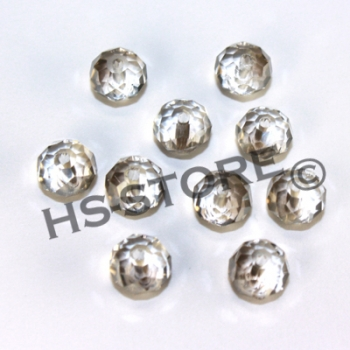 Glasschliffperle 8mm black diamond 10 Stk.