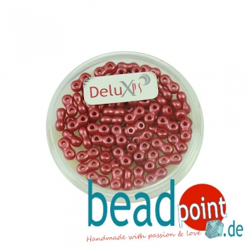 Infinity Beads DeluXes rot 3x6 mm ca.1000 St = 80 gr.