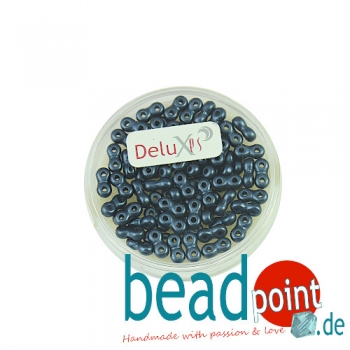 Infinity Beads DeluXes montanblau 3x6 mm ca. 70 St. = 5,5 gr