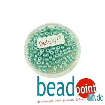 Infinity Beads DeluXes mintgrün 3x6 mm ca. 70 St. = 5,5 gr.