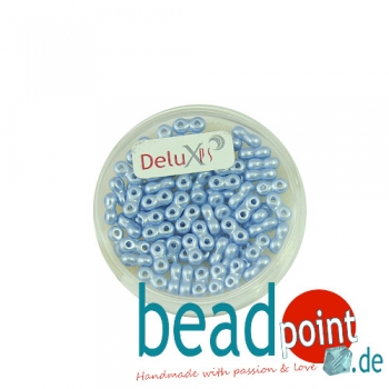Infinity Beads DeluXes hellblau 3x6 mm ca. 70 St. = 5,5 gr.