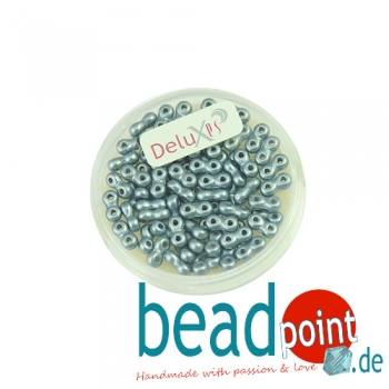 Infinity Beads DeluXes dunkelgrau 3x6 mm ca. 70 St. = 5,5 gr