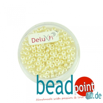 Infinity Beads DeluXes creme 3x6 mm ca. 70 St. = 5,5 gr.