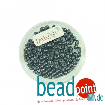 Infinity Beads DeluXes anthrazit 3x6 mm ca. 70 St. = 5,5 gr.