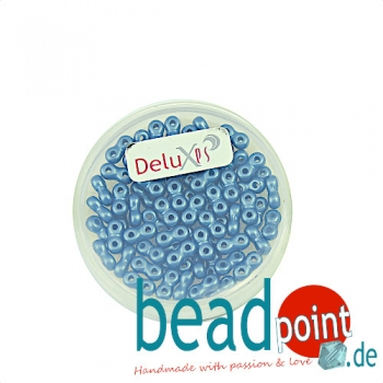 Infinity Beads DeluXes stahlblau 3x6 mm ca. 70 St. = 5,5 gr.
