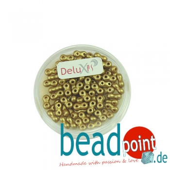 Infinity Beads DeluXes limegold 3x6 mm ca. 70 St. = 5,5 gr.
