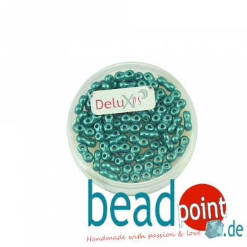 Infinity Beads DeluXes petrol 3x6 mm ca. 70 St. = 5,5 gr.