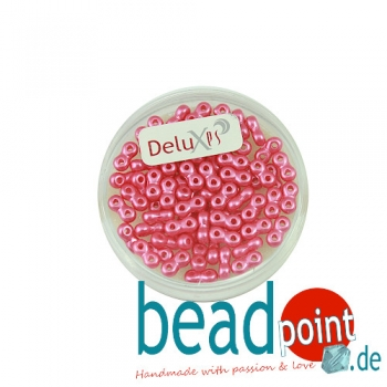 Infinity Beads DeluXes pink 3x6 mm ca. 70 St. = 5,5 gr.
