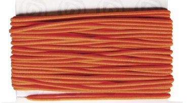 Gummifaden, 1 mm, orange, Karte 5 m
