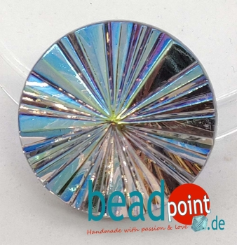 Pyramide Cabochon Kristall vitrail light AB 22mm