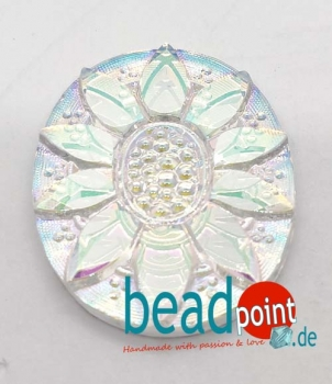 Star Cabochon oval crystal AB CAL 25/18mm