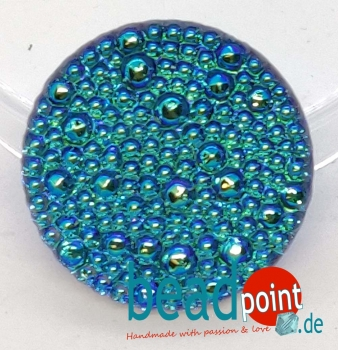 Bubble Cabochon kristall bermuda hell AB 22mm