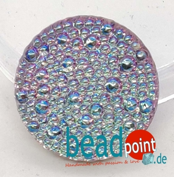 Bubble Cabochon kristall VL AB 22mm