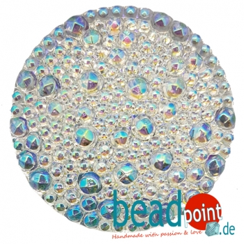 Bubble Cabochon kristall AB CAL 36mm