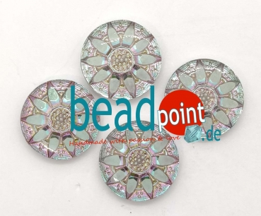 Blume Cabochon crystal HM vitrail light 23mm