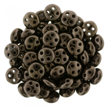 QuadraLentil 6mm dark bronze Czech Mates 5gr.
