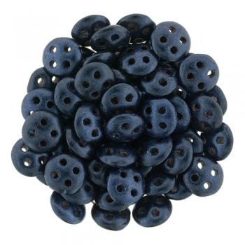 QuadraLentil 6mm metallic seide dark blue Czech Mates 5gr.