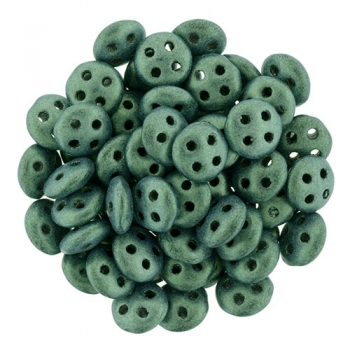 QuadraLentil 6mm metallic seide lt. green Czech Mates 5gr