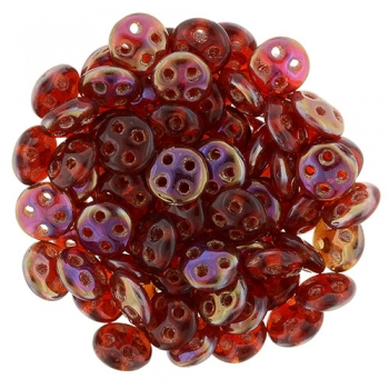 QuadraLentil 6mm Siam Ruby Czech Mates 5gr