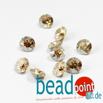 Swarovski Chaton Crystal Golden Shadow 8 mm 10 Stück