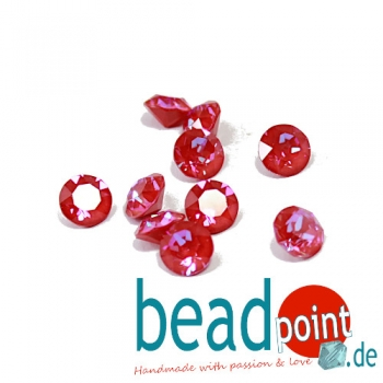 Swarovski Chaton Crystal royal red DeLite 8 mm 10 Stück