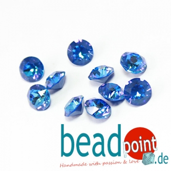 Swarovski Chaton Crystal royal Blue DeLite 8 mm 10 Stück