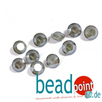 Swarovski Chaton Crystal Dark Grey 8 mm 10 Stück