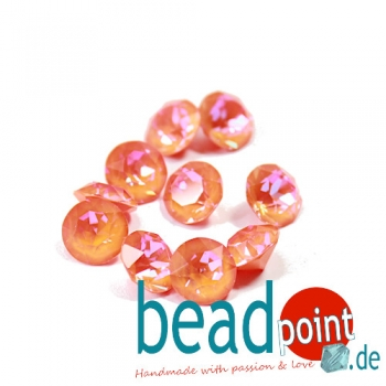 Swarovski Chaton Crystal orange Glow DeLite 8 mm 10 Stück