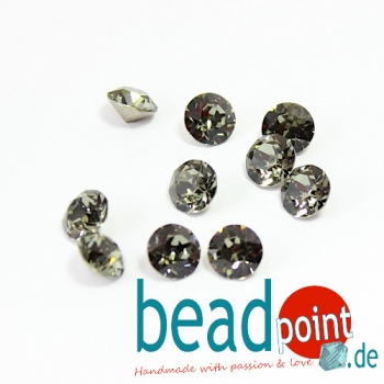 Swarovski Chaton Black Diamond 8 mm 10 Stück