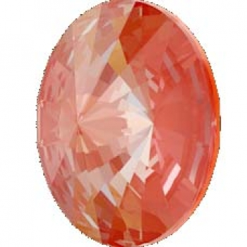 Swarovski Rivoli  Crystal orange glow DeLite 14 mm 5 Stück
