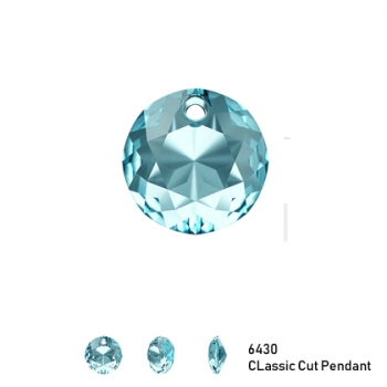 Classic Cut Pendant 6430 8mm Aquamarine 1 Stk.