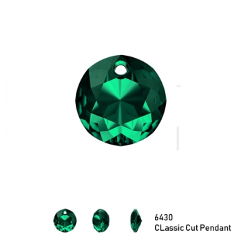 Classic Cut Pendant 6430 8mm Emerald 1 Stk.