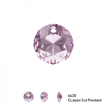 Classic Cut Pendant 6430 8mm Light Amethyst 1 Stk.