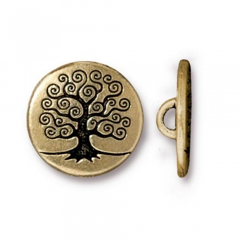 BUTTON, TREE OF LIFE, GA