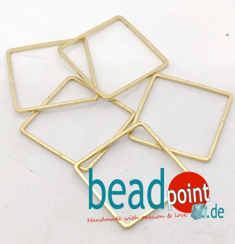 Brass Quadrat /Square 20mm Frame 5 Stk