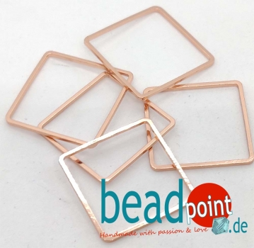 Rose Gold Quadrat /Square 20mm Frame 5 Stk