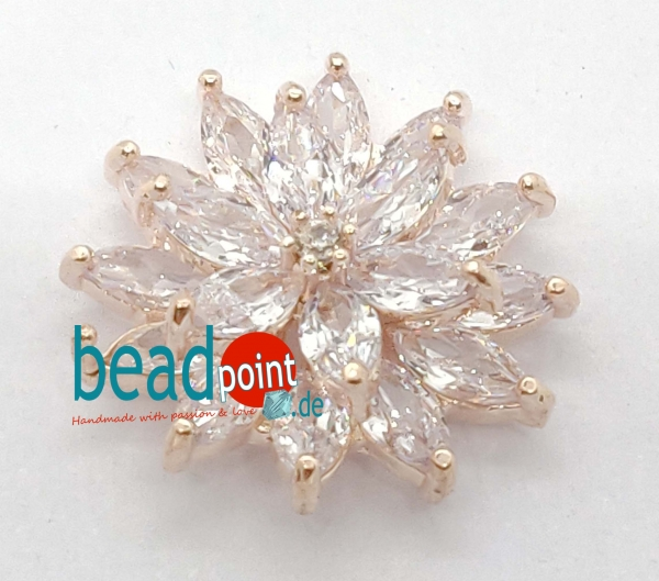 Fancy Edelweiss rose gold 20mm